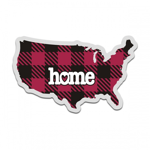 United States Buffalo Plaid Decal American USA Checkered Home Map Vinyl Sticker