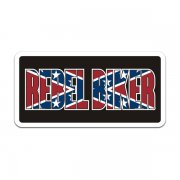 Rebel Biker Flag Motorcycle Sticker Decal