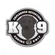 Black Labrador K9 Explosives Detection K-9 Dog Sticker Decal
