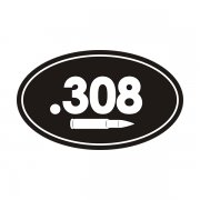 .308 Cal Ammo Can Sticker Decal