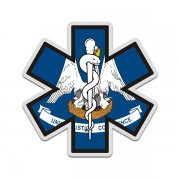 Louisiana State Flag Star of Life LA EMT Paramedic EMS Sticker Decal