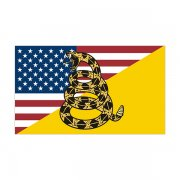 American Gadsden Flag Decal Dont Tread on Me Snake Vinyl Sticker