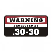.30-30 Security Decal Protected 30-30 Rifle Gun Ammo Vinyl Sticker