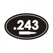 .243 Cal Ammo Can Sticker Decal
