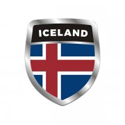 Iceland Flag Shield Badge Sticker Decal