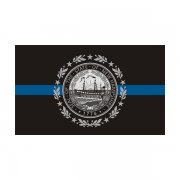 New Hampshire State Flag Thin Blue Line NH Police Officer Sheriff Sticker Decal