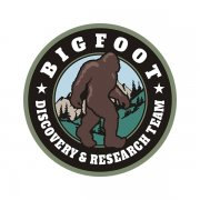 Bigfoot Sasquatch Discovery & Research Team OD Olive Green Sticker Decal