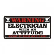 Electrician Warning Attitude Decal Lineman Vinyl Hard Hat Sticker