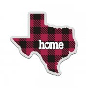 Texas State Buffalo Plaid Decal TX Checkered Home Map Vinyl Sticker