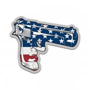 Semi Automatic Handgun American Flag Firearm Gun Sticker Decal V1 (RH)
