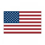 American Flag (RH) Sticker Decal