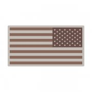 American Desert Tan Subdued Flag US Military USA Decal Sticker (LH) V3