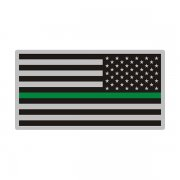 Thin Green Line American Subdued Flag USA Decal Sticker (LH) V3