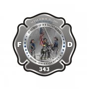 343 Firefighter Memorial Decal WTC Never Forget 9/11 Vinyl Sticker