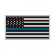Thin Blue Line American Subdued Flag USA Decal Sticker (RH) V3