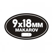 9x18MM Makarov Ammo Can Sticker Decal