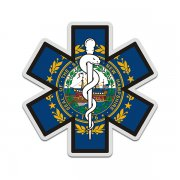New Hampshire State Flag Star of Life NH EMT Paramedic EMS Sticker Decal
