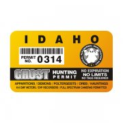 "Idaho Ghost Hunting Permit 4"" Sticker Decal"