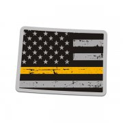 Colorado State Thin Gold Line Decal CO Tattered American Flag Sticker