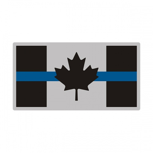 Thin Blue Line Canada Subdued Flag Canadian CA Decal Sticker V3