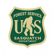 US Forest Service Bigfoot Research Department Sasquatch Logo Sticker Decal