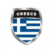 Greece Flag Shield Badge Sticker Decal