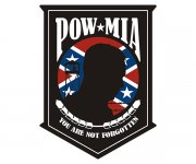 POW MIA Rebel Confederate Flag Sticker Decal