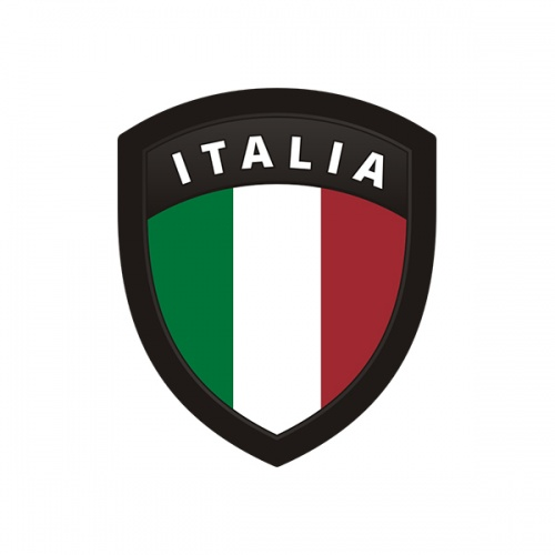 Italia Flag Italian Italy Shield Badge Sticker Decal
