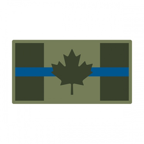 Thin Blue Line Canada Olive OD Green Flag Canadian CA Decal Sticker V3