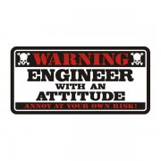 Engineer Warning Attitude Decal Vinyl Hard Hat Window Bumper Sticker