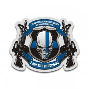 Make No Mistake I am the Sheepdog Thin Blue Line Sticker Decal
