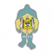 Delaware State Flag Bigfoot Decal DE Sasquatch Big Foot Sticker