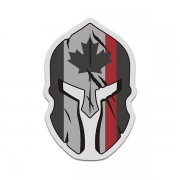 Canada Thin Red Line Flag Spartan Helmet Firefighter Sticker Decal V3
