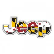 Jeep Maryland State Flag Wrangler Rubicon MD Sticker Decal