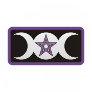 The Goddess Triple Moon Pentacle Rectangle Sticker Decal