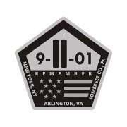 9/11 New York Pentagon Somerset Memorial Subdued Sticker Decal