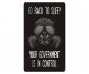 Go Back to Sleep, Your Government is in Control Sticker Decal