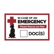 "In Case of Emergency Rescue our Dogs 5""x3"" Sticker Decal"