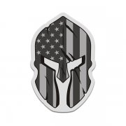 American Subdued Flag Spartan Helmet Tactical Military Sticker Decal V3