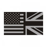 American British Subdued Flag Decal USA UK Britain Vinyl Sticker