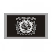 West Virginia State Subdued Flag Black/Gray Decal WV Vinyl Sticker