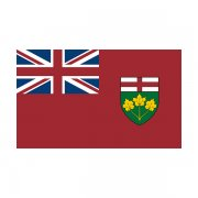 Ontario Flag Decal ON Provincial Canada Vinyl Sticker