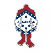 Arkansas State Flag Bigfoot Decal AR Sasquatch Big Foot Sticker