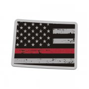 Colorado State Red Line Decal CO Tattered American Flag Sticker
