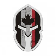 Canada Flag Thin Red Line Spartan Decal Canadian Firefighter Sticker
