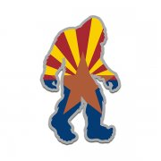 Arizona State Flag Bigfoot Decal AZ Sasquatch Big Foot Sticker V2