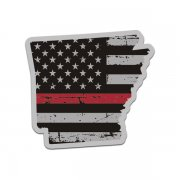 Arkansas State Thin Red Line Decal AR Tattered American Flag Sticker