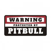 Pitbull Protected by Warning Decal Guard Dog Pit Bull Vinyl Sticker