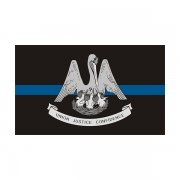 Louisiana State Flag Thin Blue Line LA Police Officer Sheriff Sticker Decal
