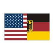 American German Flag Decal USA Germany Car Window Vinyl Sticker